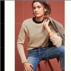 Anthropologie FRYE Morgan Sweater New Sand Medium